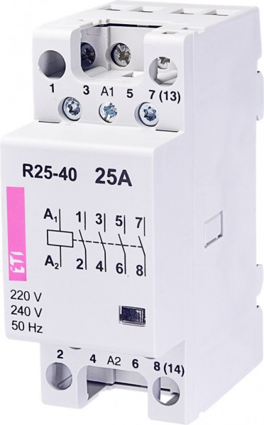 Contactor modular Eti 2462350 - R25 04 230V