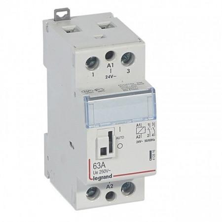 Contactor modular Legrand 412516 - CX3 CT 24 V~ coll and handle - 2P 250 V~ - 63 A