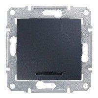 Intrerupator Schneider SDN1400170 Sedna - Intrerupator cu indicator luminos albastru, 10 AX - 250 V grafit
