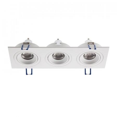 Spot Arelux XFrame FR03 MWH - Corp iluminat fara led XFRAME MR16 3XGU10 IP20 MWH, alb