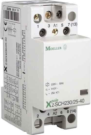 Contactor modular Eaton 248851 - Z-SCH24/25-40-Contactor modular 25A, 4ND, cda 24V