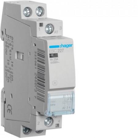 Contactor modular Hager ESD226 - CONTACTOR, 25A, 2NI, 24V