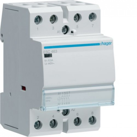 Contactor modular Hager ESD440 - CONTACTOR, 40A, 4ND, 24V