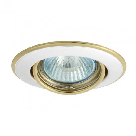Corp iluminat Kanlux 2832 HORN CTC-3115 - Spot incastrat directional, Gx5,3, max 50W, 12V, IP20, alb/auriu