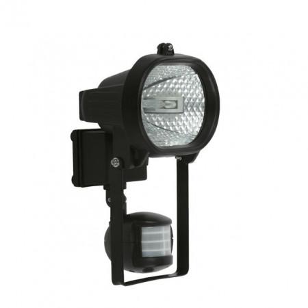 Corp iluminat Kanlux 666 MEZO CE-81P-Y-B - Proiector halogen cu senzor miscare, R7s, 150W, IP44, negru