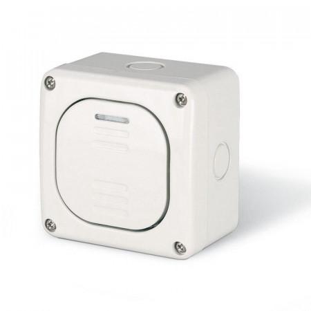 Intrerupator Scame 137.5011 Protecta - Intrerupator simplu, 1P, 10A, IP66, alb