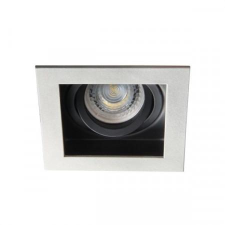 Spot Kanlux 26721 ARET - Spot incastrat, directional GU10, 1x35W, argintiu/negru
