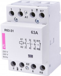 Contactor modular Eti 2463480 - R63-04 230 V