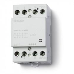 Contactor modular Finder 224402304710 - Contactor modular, 3 ND + 1 NI, 230V c.a./c.c., 40A, AgSnO2; Indi