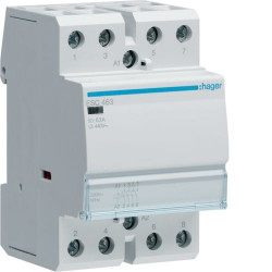 Contactor modular Hager ESD463 - CONTACTOR, 63A, 4ND, 24V