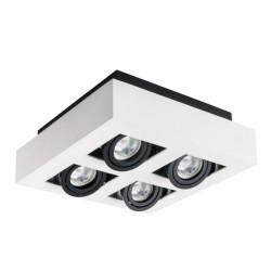 Corp iluminat Kanlux STOBI 26837 - Plafoniera led 4x25W, Gu10, IP20, alb/negru