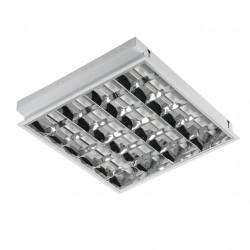 Corp iluminat LED Kanlux 4655 REGIS 418-EVG - Corp ilum incastrat, T8, G13, 4x18W, IP20, alb