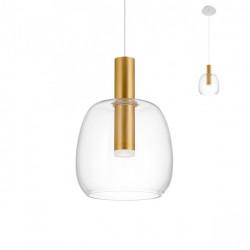 Corp iluminat Redo 01-1819 Candela - Lustra led, 6,6W, 3000k, 693lm, sticla suflata, auriu