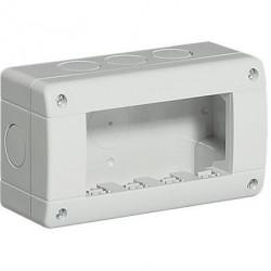 Doza aparenta Bticino 24404 Living Light - Doza aparenta IP40, 4 module, alba