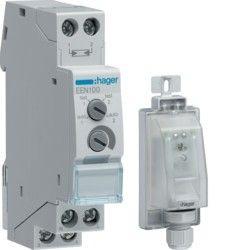 Hager EEN100 releu senzor crepuscular - Intrerupator crepuscular, 1 cale 1M 230V, 16A, AC1