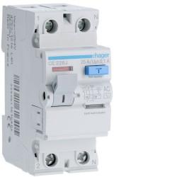Intrerupator automat Hager AF882J - DISJ.DIF P+N 32A/300MA C 4.5KA AC