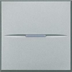 Intrerupator Bticino HC4004/2 Axolute - Intrerupator cap cruce, 16A - 250V, 2 module, comanda axiala, argintiu