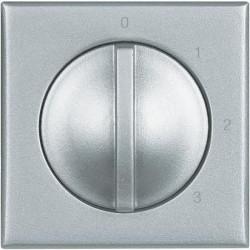 Intrerupator Bticino HC4016 Axolute - Intrerupator 4 pozitii, 3A, 250V, argintiu