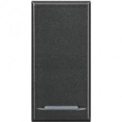 Intrerupator Bticino HS4054 Axolute - Intrerupator cap cruce, 16A - 250V, 1 modul, rocker, negru