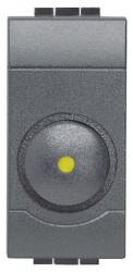 Intrerupator Bticino L4406 Living Light - Variator rotativ, 100W-500W, 1M, 250V, negru