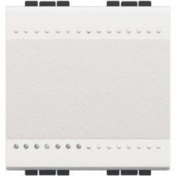 Intrerupator Bticino N4003M2A Living Light - Intrerupator cap scara 16A - 250V, 2 module, borne automate, alb