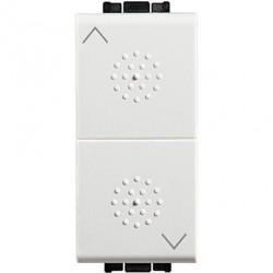 Intrerupator Bticino N4027 Living Light - Intrerupator stroruri cu inversor 1P ND 1-0-2 1M, alb