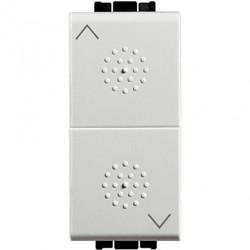 Intrerupator Bticino N4037 Living Light - Intrerupator cu revenire cu buton dublu cu interblocare, 250V, 10A, 1M, alb