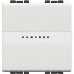 Intrerupator Bticino N4054M2 Living Light - Intrerupator cap cruce cu comanda axiala 16A - 250V, 2 modul2, borne automate, alb