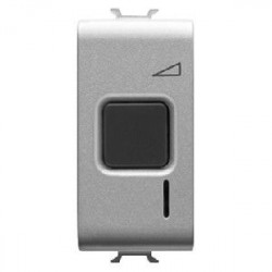 Intrerupator Gewiss GW14568 Chorus - Intrerupator cu variator rezistiv/inductiv 1M 60-500W TITANIUM