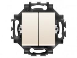 Intrerupator Gewiss GW35051Y Dahlia - Intrerupator dublu, simplu, 1P, 10AX, Ivory