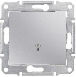 Intrerupator Schneider SDN0800160 Sedna - Intrerupator cu revenire, cu simbol sonerie 10 AX - 250 V, aluminiu