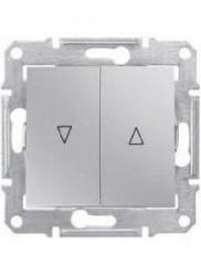 Intrerupator Schneider SDN1300360 Sedna - Intrerupator pentru jaluzele cu interblocare mecanica, 10 AX - 250 V, aluminiu