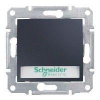 Intrerupator Schneider SDN1700470 Sedna - Intrerupator cu revenire cu suport eticheta si cu indicator luminos rosu, 10 AX - 12 V, grafit