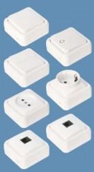 Intrerupator Sonepar HZ-LK65014-B Weiss - Intrerupator cu revenire, pentru sonerie, alb