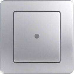 Intrerupator Tem SE10ESIN-B Ekonomik - Intrerupator simplu cu led argintiu
