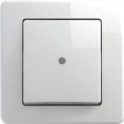 Intrerupator Tem SE10PWIN-B Ekonomik - Intrerupator simplu cu led alb