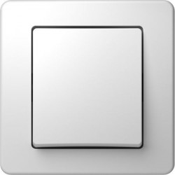 Intrerupator Tem SE11PW-B Ekonomik - Buton simplu alb