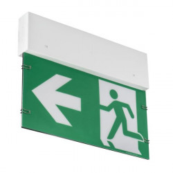 Lampa urgenta Kanlux Ontec 27750 - Lampa evacuare urgenta ONTECGE1B101MAT/W 1H, sageata stanga/dreapta