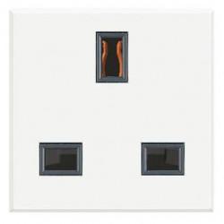 Priza Bticino HD4150 Axolute - Priza standard englezesc, 13A, 250V, 2M, alb
