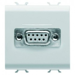 Priza date Gewiss GW10441 Chorus - Priza semnal VGA, SUB-D cu 9 contacte, 2M, alb