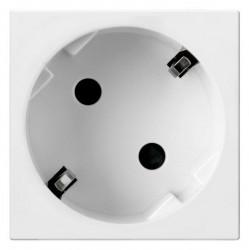 Priza Legrand 077245 Mosaic - Priza schuko, 2P+T, orientare 45°, alb