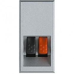 Priza Semnal Bticino HC4294 Axolute - Conector audio, 1M, argintiu