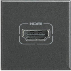 Priza semnal Bticino HS4284 Axolute - Conector HDMI, 2M, negru