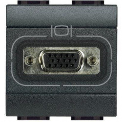 Priza Semnal Bticino L4282 Living Light - Conector HD15, 1M, negru