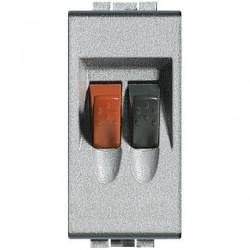 Priza Semnal Bticino NT4294 Living Light - Conector audio pentru difuzoare, 1M, argintiu