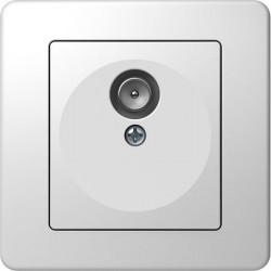 Priza Tem KE10PW-B Ekonomik - Priza simpla TV capat alb