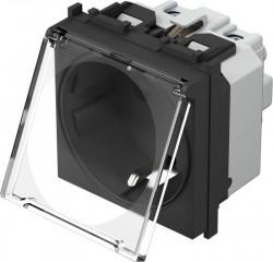Priza Tem VM11BT-B Modul - Pr.simp CP capac 2m negru