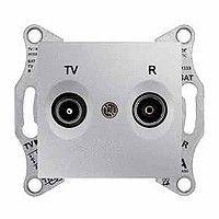 Priza TV/R Schneider SDN3301660 Sedna - Priza TV/R, de capat, atenuare 1dB, aluminiu