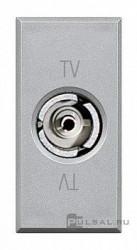 Priza TV/SAT Bticino HC4201D Axolute - Priza TV mama, 1M, argintiu