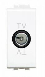 Priza TV/SAT Bticino N4202DC Living Light - Priza TV de capat, 1M, alb